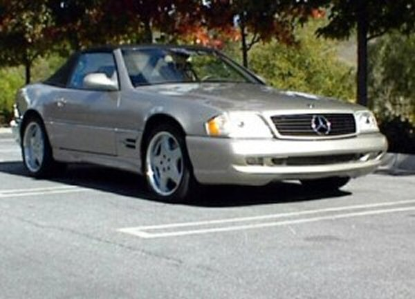 Hall's Mercedes convertible